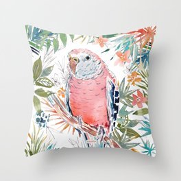 BOBBER THE BOURKE'S PARAKEET Throw Pillow