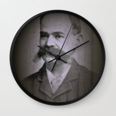 stache Wall Clock