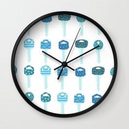 Be a Little Doorkey - Blue Wall Clock