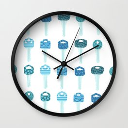 Be a Little Doorkey - Blue Wall Clock