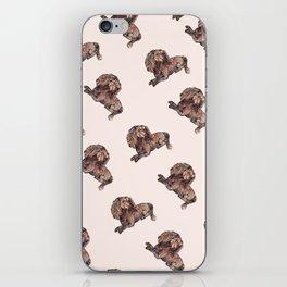 Dog Pattern 2 on Girly Pink iPhone Skin