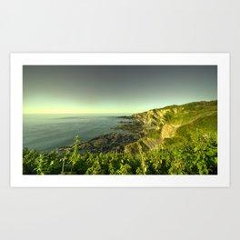 North Devon Coastscape Art Print