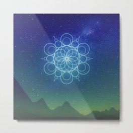 Sacred Geometry (Cosmic Connection) Metal Print