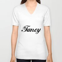 fancy V-neck T-shirts featuring Fancy  by Poppo Inc.