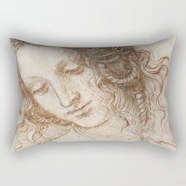 Leonardo da Vinci - Head of Leda Rectangular Pillow