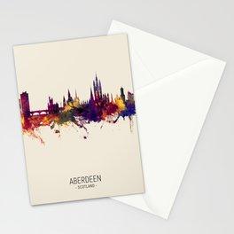 Aberdeen Scotland Skyline Stationery Cards