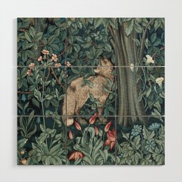 William Morris Forest Fox Tapestry Wood Wall Art