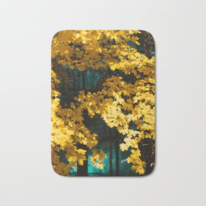 golden autumn Bath Mat