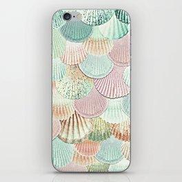 MERMAID SHELLS - MINT & ROSEGOLD iPhone Skin