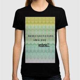 Wonderwall - Oasis T-shirt