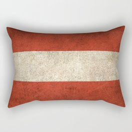 Old and Worn Distressed Vintage Flag of Austria Rectangular Pillow
