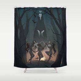 Drawlloween Coven Shower Curtain