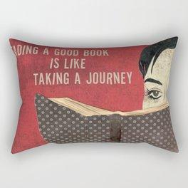 Reading a Book Rectangular Pillow