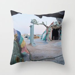 Under Salvation Mountain Throw Pillow