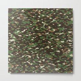 Camouflage: Woodland II Metal Print