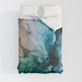 Salty Shores Abstract Painting Comforters