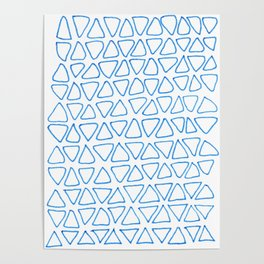 little blue triangles Poster