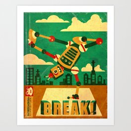 Breakbot Art Print