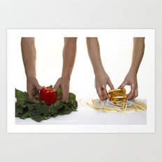 You are what you eat. Art Print
