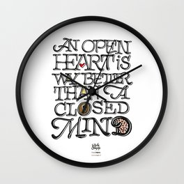 Open heart - Closed mind Wall Clock