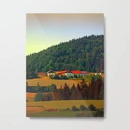 Farm taking an afternoon nap Metal Print
