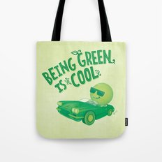Being Green is Cool Tote Bag