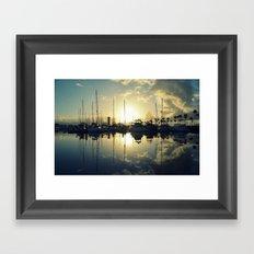 marina morning Framed Art Print