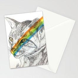 Cat's eye rainbow Stationery Cards