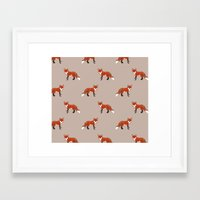 foxes Framed Art Prints featuring Foxes by Abby Galloway