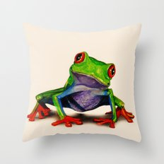 Mr. Ribbit Throw Pillow