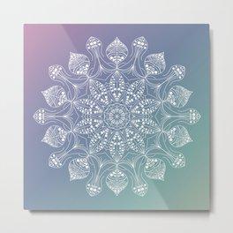 Jellyfish mandala Metal Print