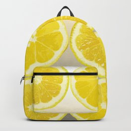Lemon Slice Collage Juicy Fruit Backpack