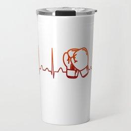 Kickboxing Heartbeat Travel Mug