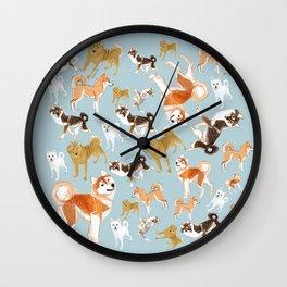 Japanese Dog Breeds Wall Clock