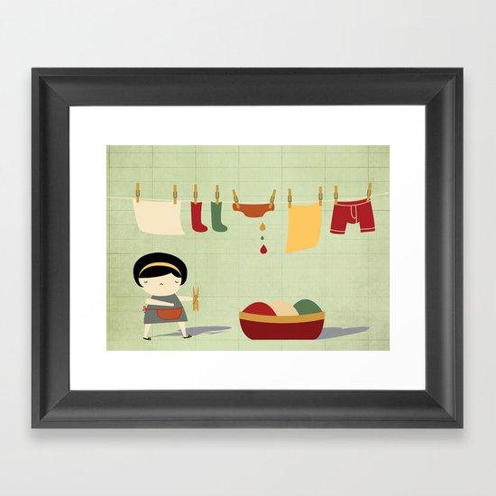 Busy Framed Art Print