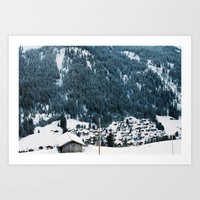 Morgins, Switzerland Art Print