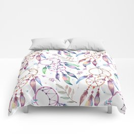 Watercolor Boho Dream Catcher Pattern Comforters
