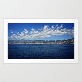 Section of Mediterranean Coast 2 Art Print