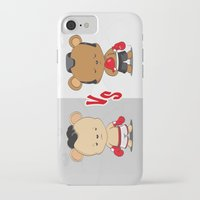 boxing iPhone & iPod Cases featuring Boxing Bears by Yolanda Yvette