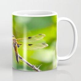 Dragonfly On A Branch Of A Rose #decor #society6 Coffee Mug