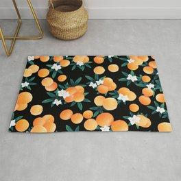 Orange Twist Flower Night Vibes #1 #tropical #fruit #decor #art #society6 Rug