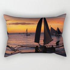 Borocay Sunset Philippines Rectangular Pillow