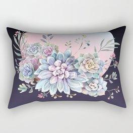 Succulent full moon Rectangular Pillow