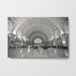 Union Station Washington DC Photo, Black and White Photography, Washington DC Subway Art Metal Print