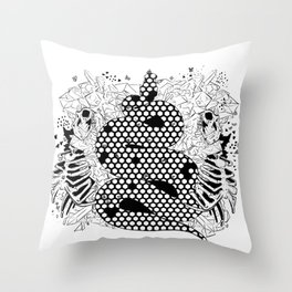 More bees with honey Throw Pillow