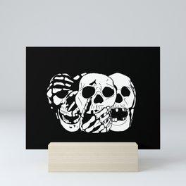 3 Skulls Mini Art Print