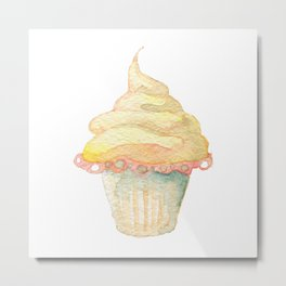 Ice Cream Yellow Metal Print
