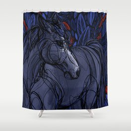 Valor the Mustang Shower Curtain