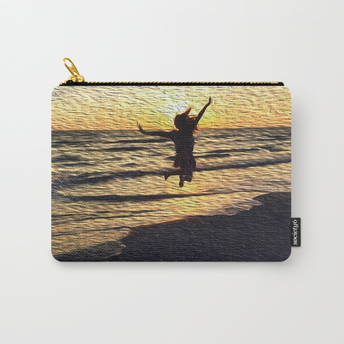 jump and be free #society6 Carry-All Pouch