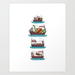 Cargo Ships Art Print